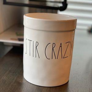 Rae dunn Stir Crazy crock